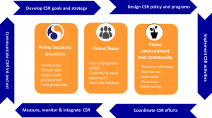 DS PRIMA's priority issues and main functions of our CSR team